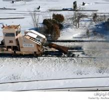 إزالة الثلوج من السكك الحديدية