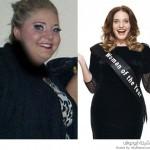 امرأة تفقد نصف وزنها