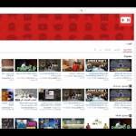 واجهة اليوتيوب