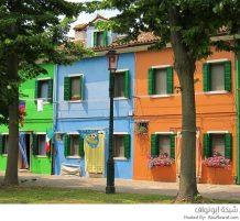 جزيرة بورانو الملونة في إيطاليا