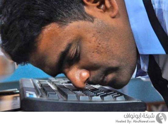 أسرع شخص يكتب على لوحة المفاتيح بأنفه