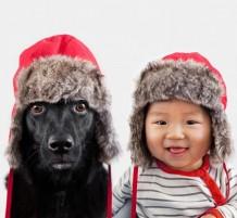 طفل وكلب