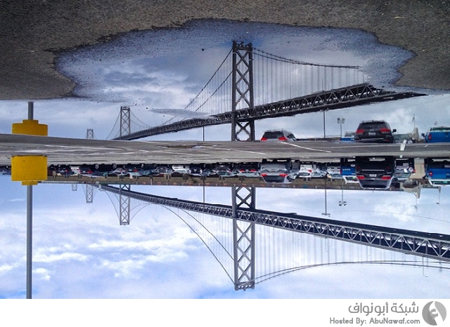 انعكاس الماء في سان فرانسيسكو
