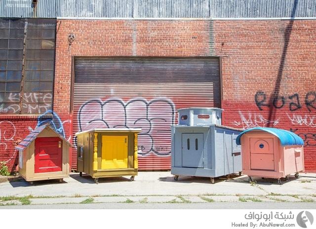 تحويل القمامة إلى منازل