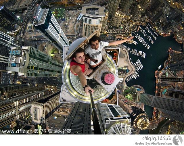 تصوير سلفي من أعلى برج بالعالم