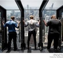مشاهدة مدينة شيكاغو من على إرتفاع شاهق