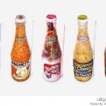 الأطعمة المعلبة داخل زجاجات شفافة