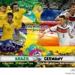 الوصول إلى النهائي بين البرازيل وألمانيا