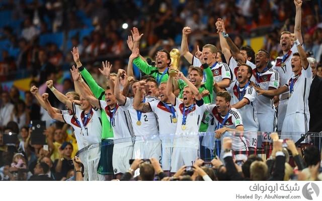 تتويج المنتخب الألماني بمونديال البرازيل 2014