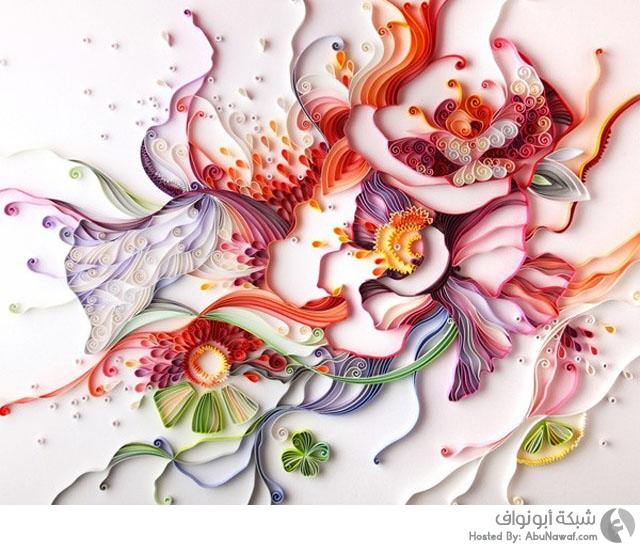 جداريات فنية مذهلة بواسطة الورق والصمغ