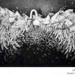لوحة سريالية ضخمة رسمت بأقلام الرصاص
