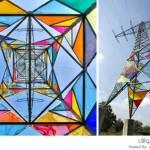 مجموعة من الطلاب يحولون الأبراج الكهربائية لقطع فنية 2