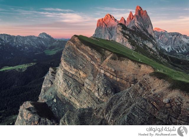 مناظر طبيعية في جبال الألب