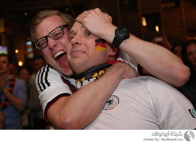 احتفال الألمان كأس العالم