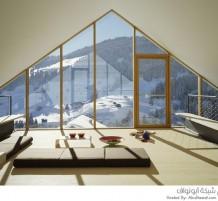 منزل فوق جبال الألب