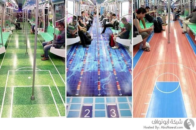 تزيين أرضية قطارات الصين