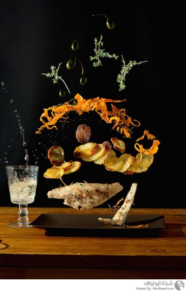 تصوير أطباق الطعام بطريقة جديدة