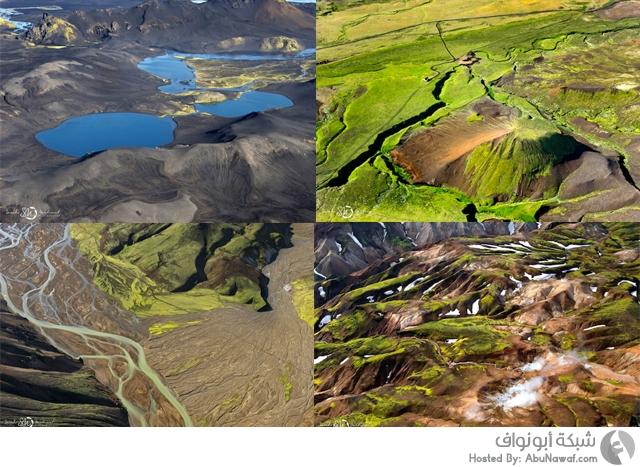 صور طبيعية جوية من أيسلندا