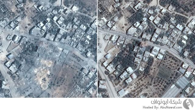 صور من الأقمار الصناعية للدمار في قطاع غزة