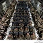 الجيش الأمريكي داخل طائرة
