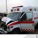 حادث سيارة اسعاف