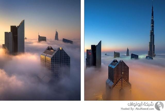 دبي والضباب