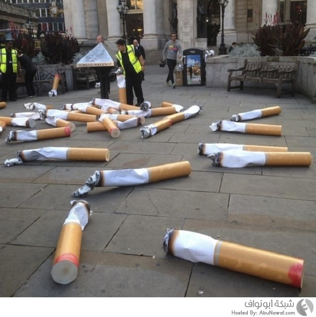 دعوة لتوعية سكان لندن من خطر أعقاب السجائر