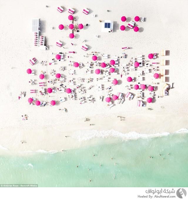 صور جوية تظهر جمال الشواطئ