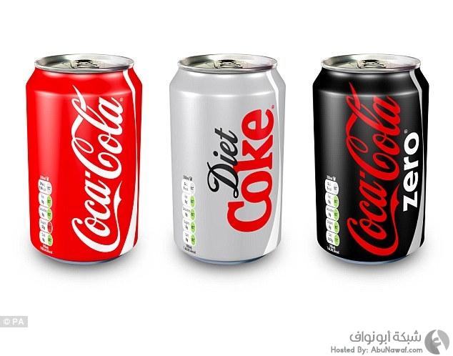 علامات تحذيرية على علب الكوكاكولا