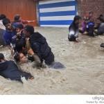 فيضانات تدمر حفل زفاف