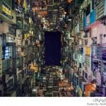 مشاهد ملونة لمباني هونج كونج الشاهقة