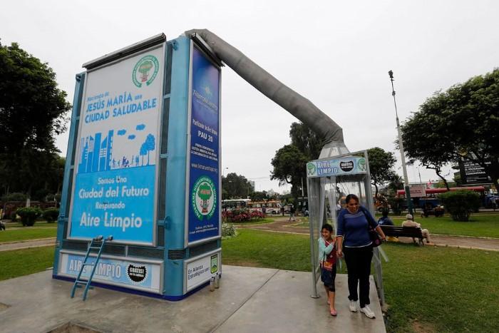 تنقية الهواء في ليما عاصمة البيرو