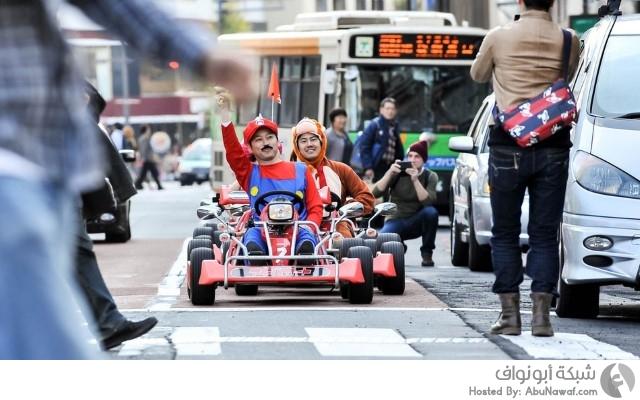 سوبر ماريو سباقات يابان شوارع سيارات كارات