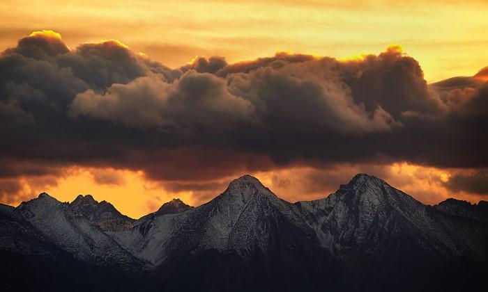 غرب الشمس تصوير صور جبال تاترا طبيعة