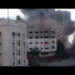 قصف برج في عزة