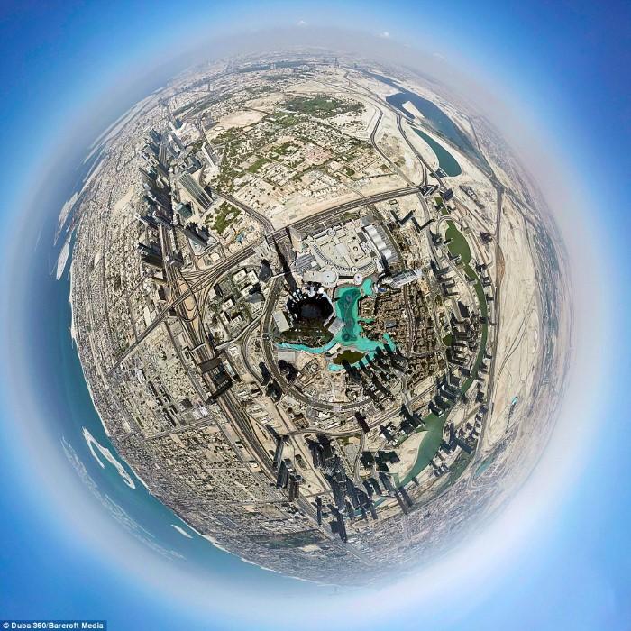تصوير بانورامي برج دبي