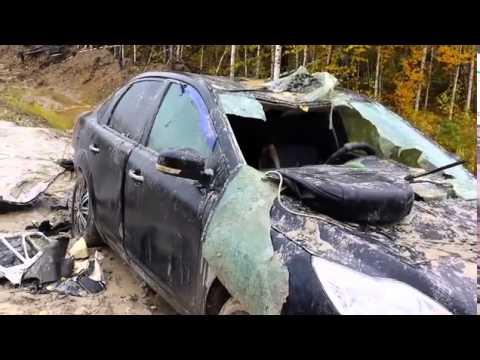 دب ينتقم من صياده بتحويل سيارته إلى خردة..! (فيديو)