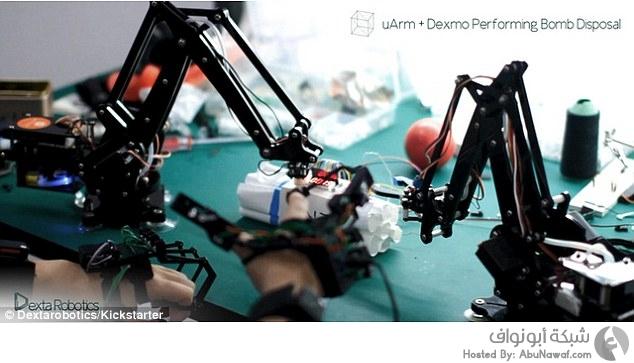 Dexmo أداة اليدين للواقع الافتراضي 1