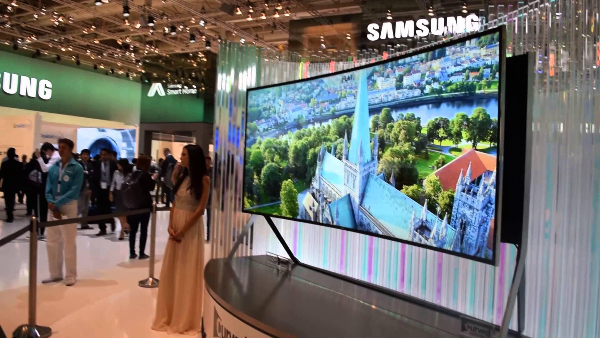سامسونج تكشف عن شاشتها المنحنية Curved UHD TV.. (فيديو)