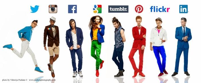 الشبكات الاجتماعية شخصيات حقيقة