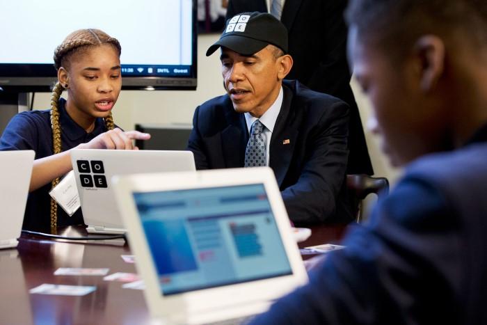 أوباما أول رئيس في العالم يكتب كود برمجي