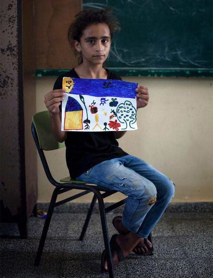 أطفال غزة يرسمون مستقبلهم