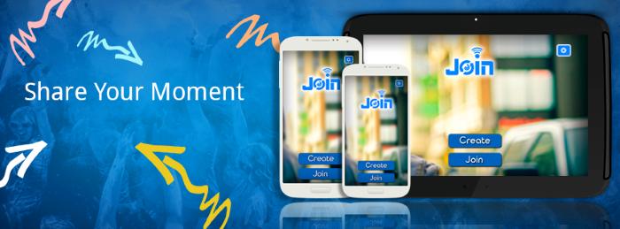 تطبيق join لمشاركة الصور والصوت مع الأجهزة المحيطة