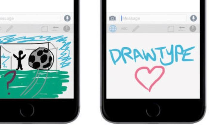 تطبيق تحويل لوحة المفاتيح إلى لوحة رسم drawtype