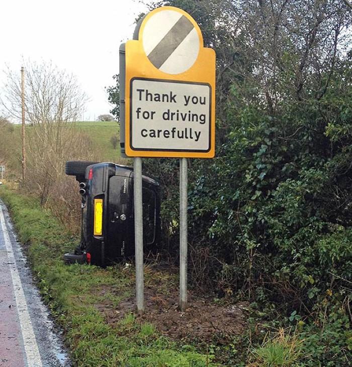 الرجاء القيادة بحذر