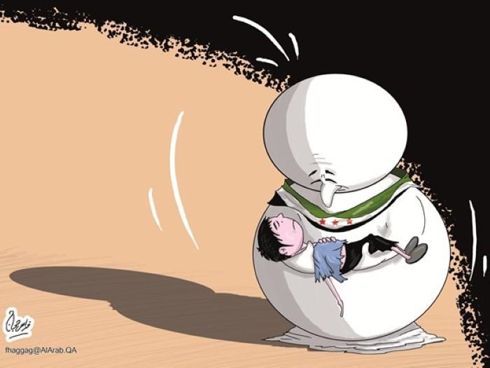 كاريكاتير جريدة العرب (قطر)  يوم الأحد 11 يناير 2015