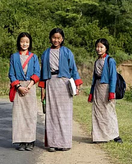 زي المدرسة في بوتان