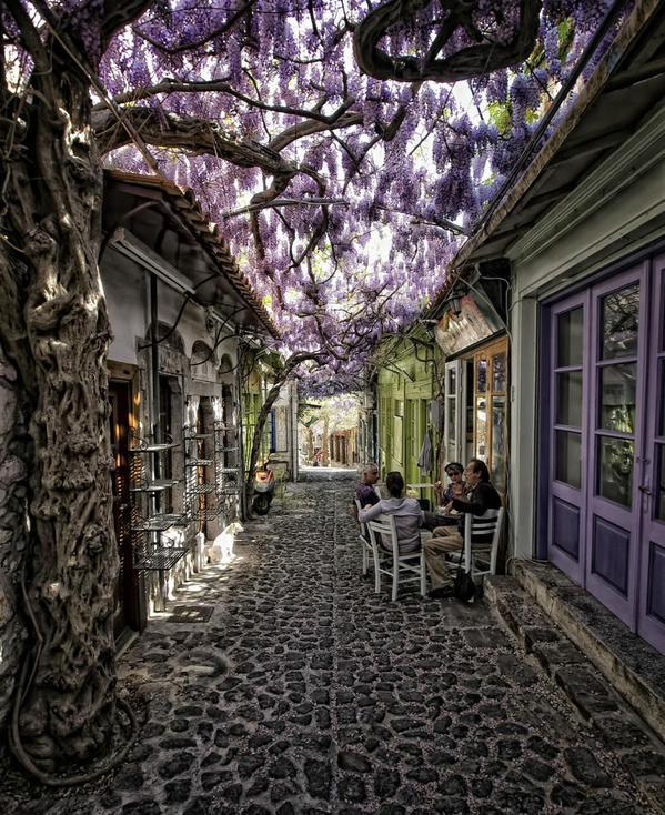 مقهى في اليونان