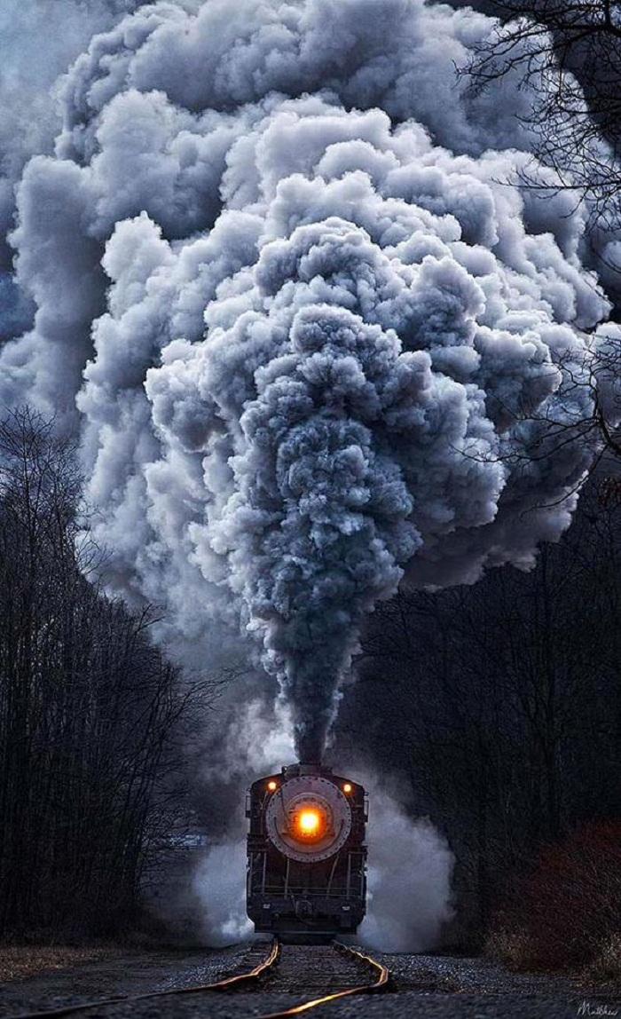 قطار بخاري