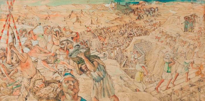 لوحة حفر قناة السويس